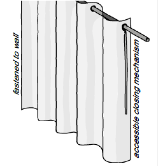 An example of a partition curtain to install inside a tent
