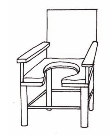 Seat with hole